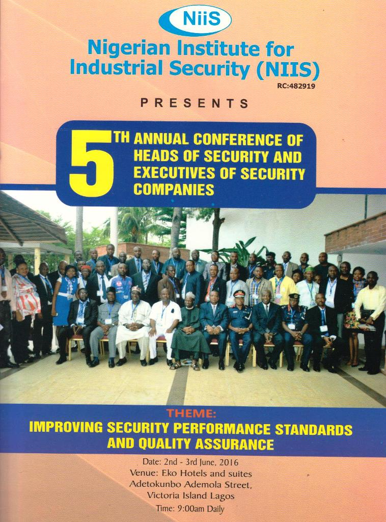 Flier for NIIS 5th Annual Conference for Heads of Security   1